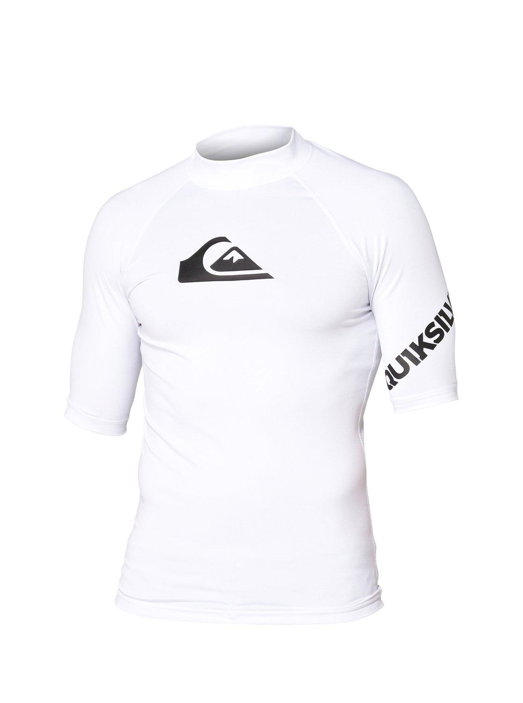91b5b9839cdcd Quiksilver All Time Short Sleeve Rashguard - White: Neptune Diving & Ski