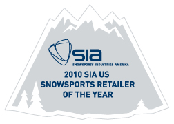 Neptune Diving and Ski was voted SnowSports Industries America Snowsports retailer of the year in 2010. We are honored to receive this award from SIA and make it a daily commitment to uphold those standards daily as a snow ski and snowboarding shop.