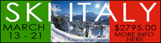 Ski Trips with Neptune Diving and Ski Shop to Italy March 13-21, 2015.