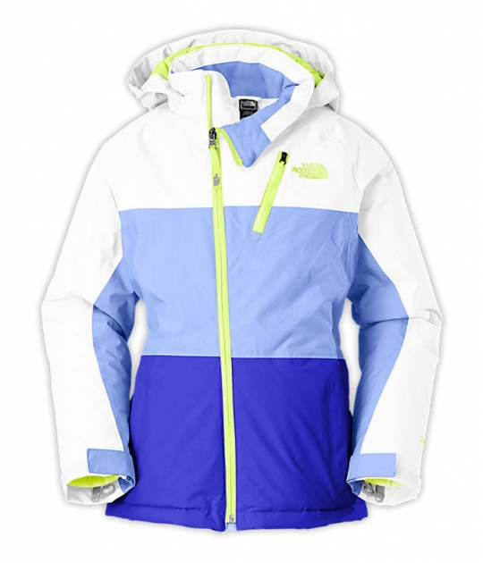 beb703490 The North Face Girls' Insulated Kizamm Jacket - TNF White and Dynasty Blue