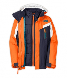 d6f32abae The North Face Boys' Boundary Triclimate Jacket - Fiery Red: Neptune ...