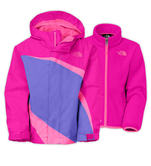 b7e96d511 The North Face Toddler Girls' Mountain View Triclimate Jacket - Luminous  Pink