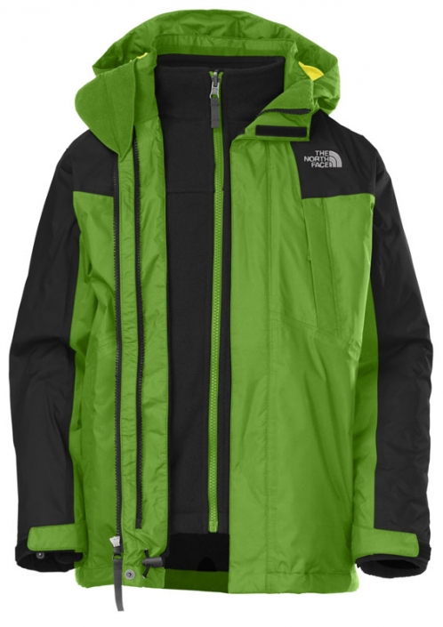 eb198b9b3 The North Face Boys Condor Triclimate Jacket - Flashlight Green